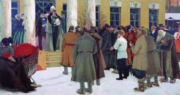 Борис-Кустодиев.-Чтение-манифеста.-1907-(1)