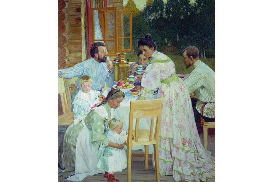 Б.М. Кустодиев. На террасе. 1905 г.