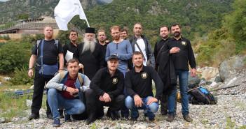 Паломничество-членов-братства-на-Святую-Гору-Афон-с-архимандритом-Дорофеем