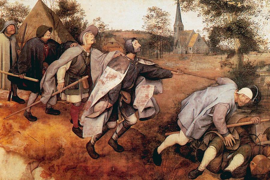 Питер Брейгель Старший. Слепые ведут слепых. 1568 г.