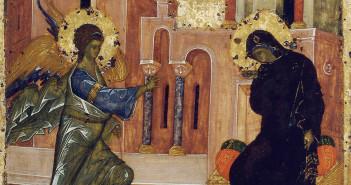 Икона-Благовещение-XIV-век