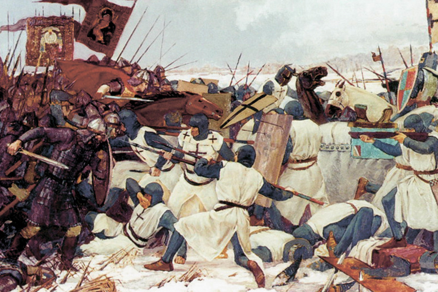Ледовое побоище в 1242 году