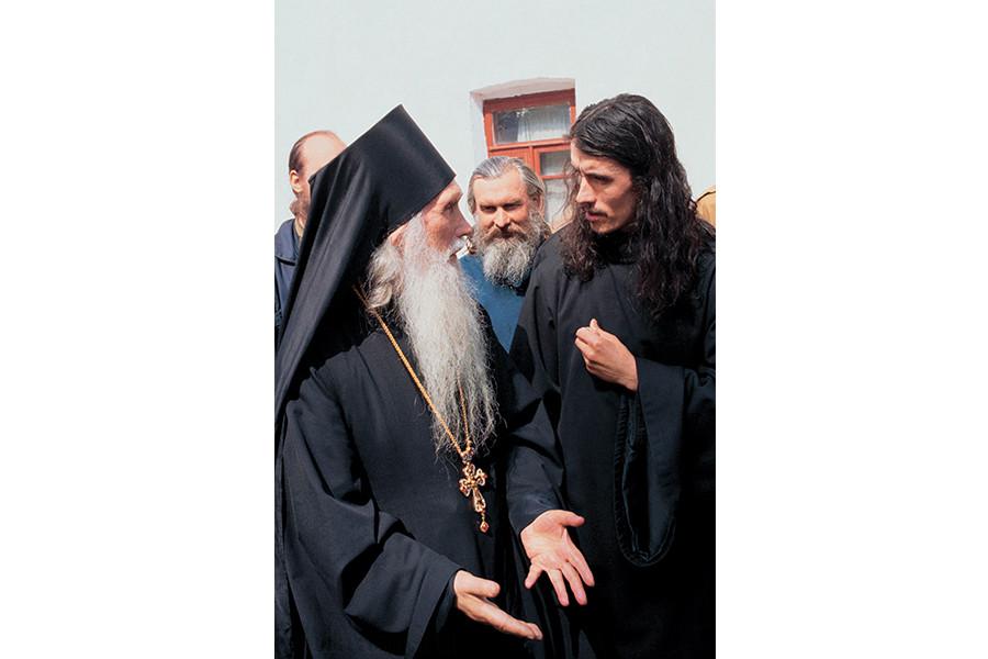 Старец Кирилл с молодым монахом