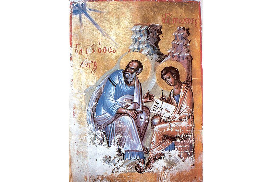 Иоанн Богослов с учеником Прохором