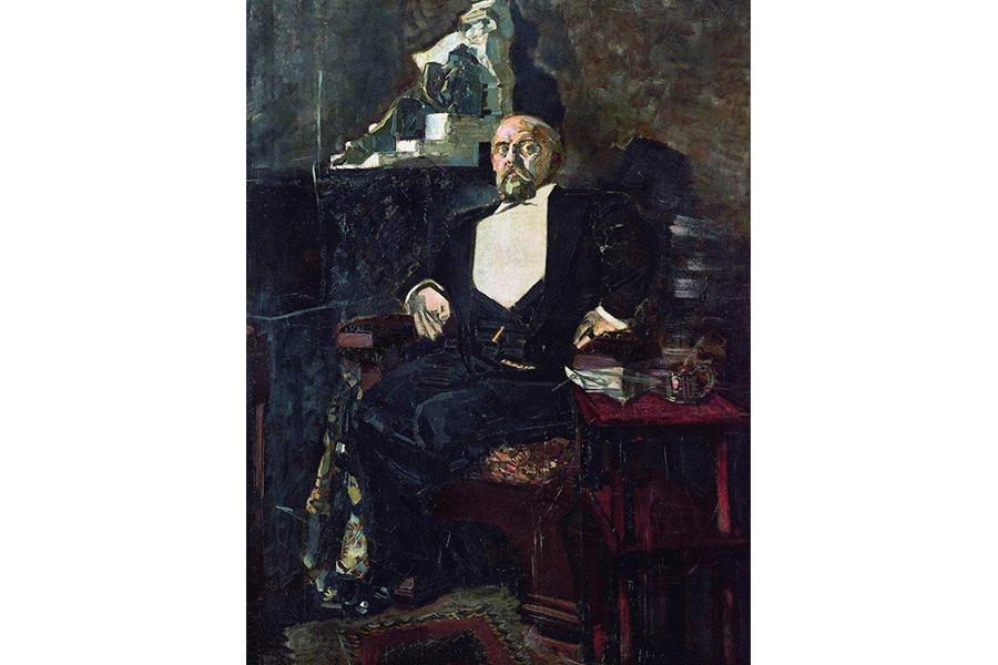 Михаил Врубель. Портрет Саввы Ивановича Мамонтова, 1897 г.