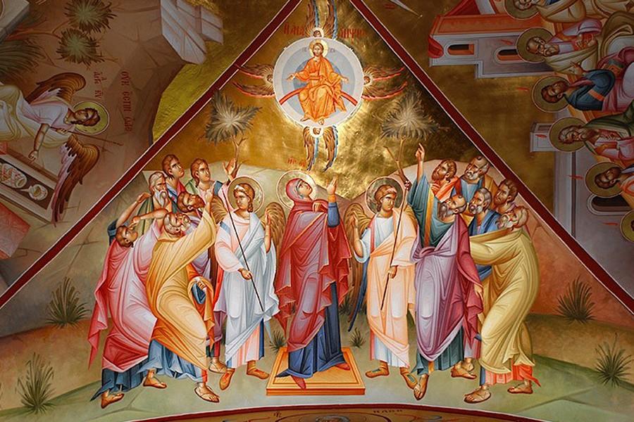 Вознесение Господне Фреска Фаворского монастыря