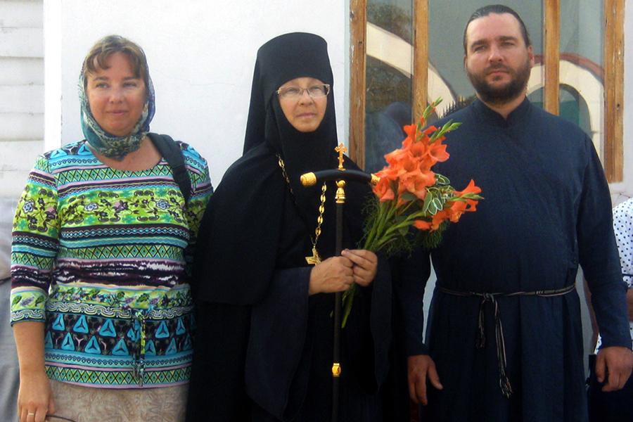 2010 - С сыном протодиаконом Павлом и дочерью Мариной