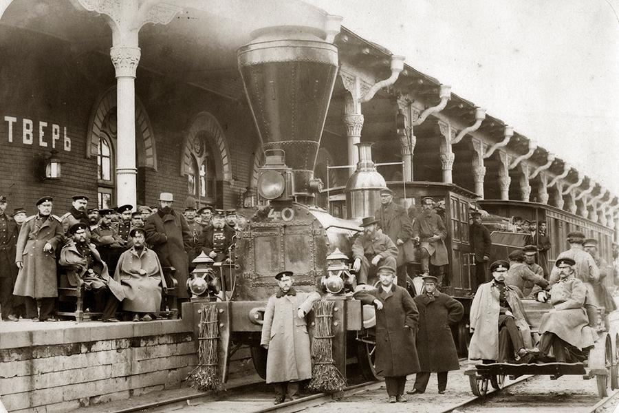 Вокзал в Твери Николаевской железной дороги