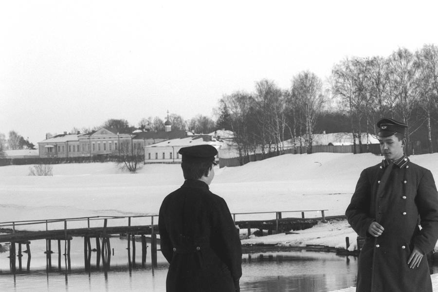 Трехсвятское, слева остатки мельницы, начало XX в.