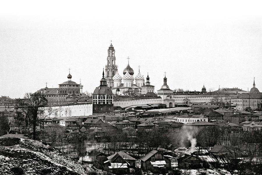 Троице-Сергиева Лавра с восточной стороны. 1897 г.