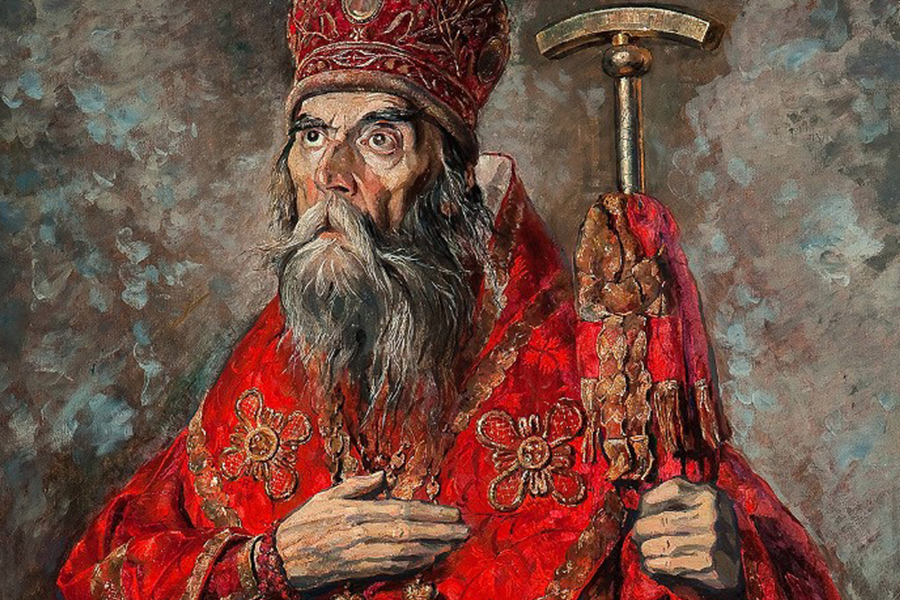 Митрополит Трифон (Туркестанов) С картины Павла Корина