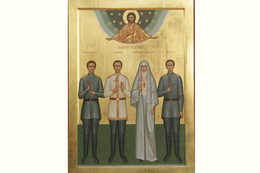Образ Алапаевских мучеников - святые великая княгиня Елисавета, князья Константин, Иоанн, Игорь