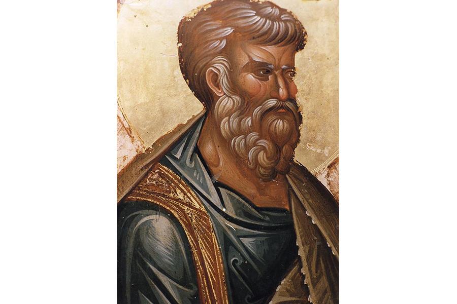 Святой апостол и евангелист Матфей. Фрагмент иконы XIII в.
