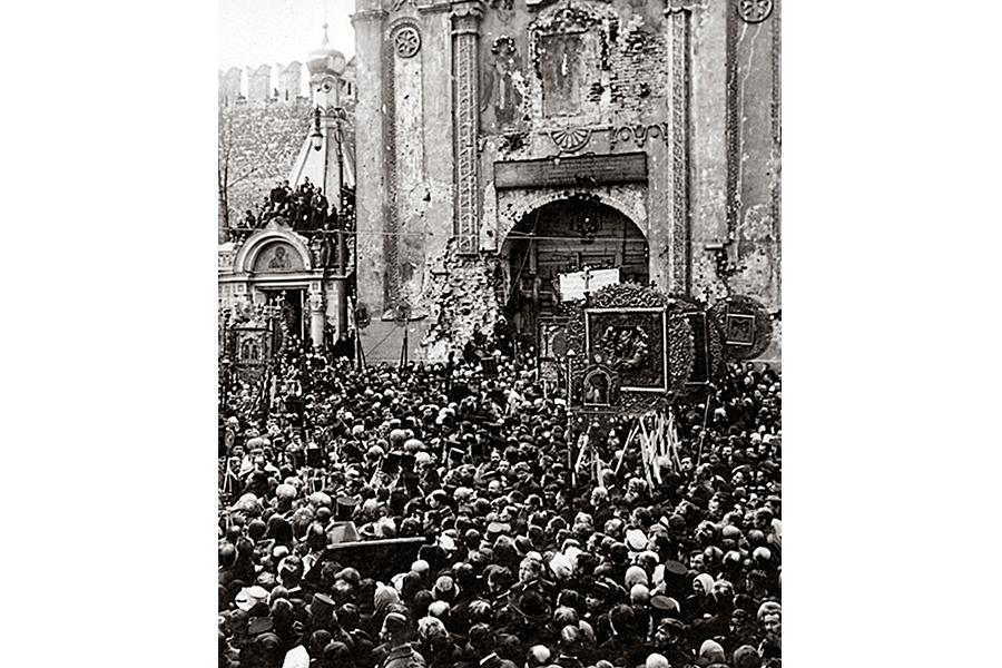 Крестный ход в Москве 9 февраля 1918 года