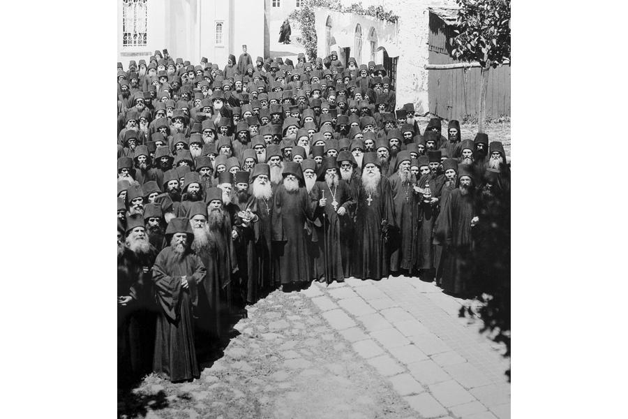 Братия Пантелеимонова монастыря 1923 год