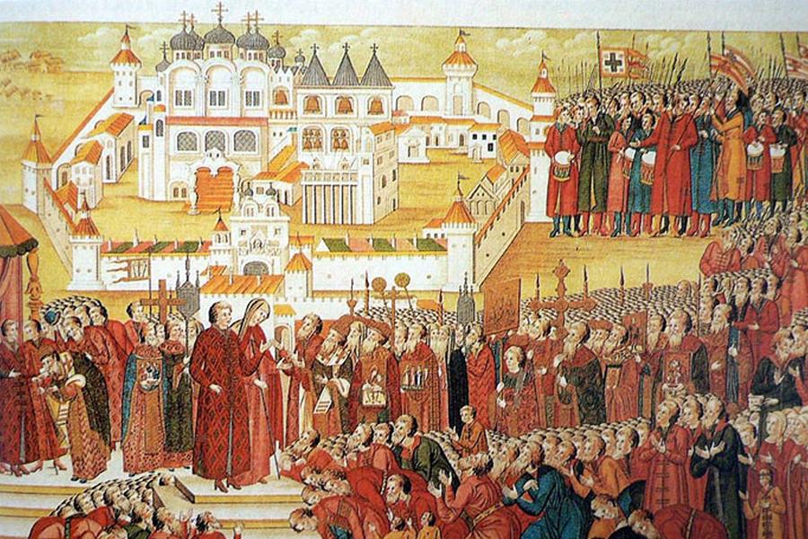 Миниатюра из книги Избрание на царство