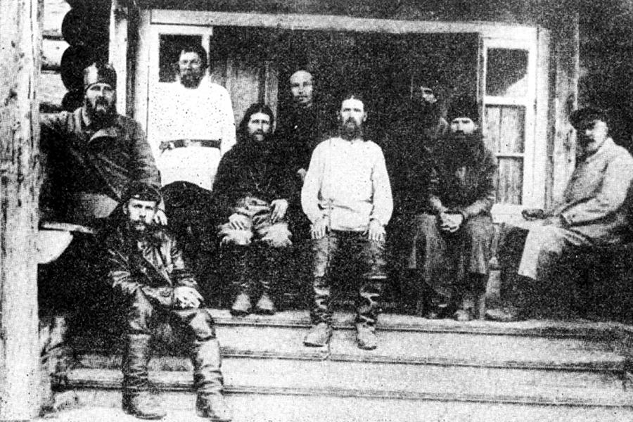 На Соловках, крайний слева святитель Иларион