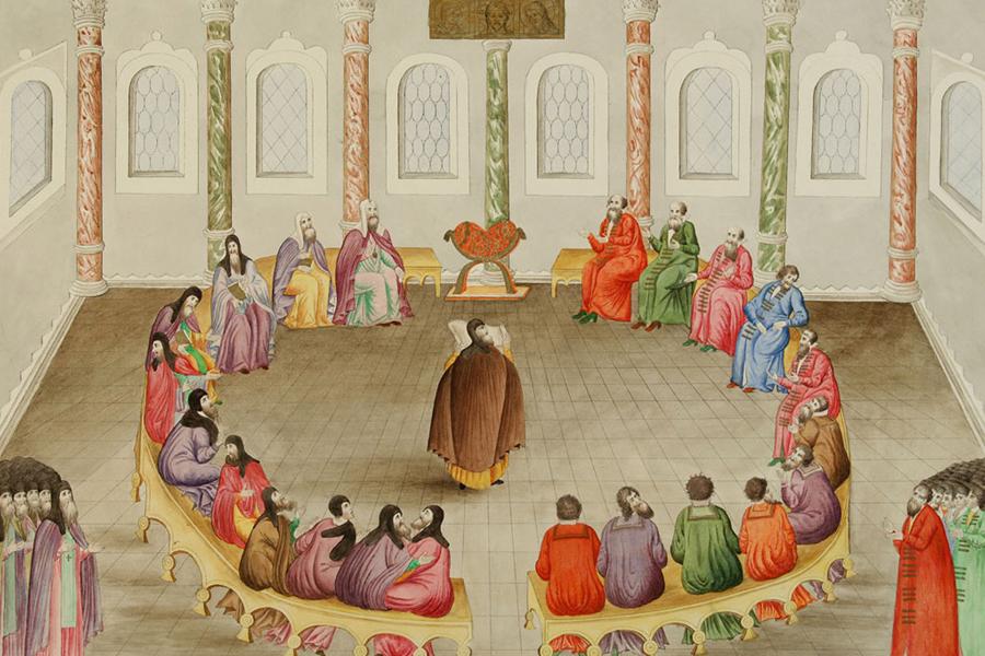 Миниатюра из книги Избрание на царство Михаила Федоровича