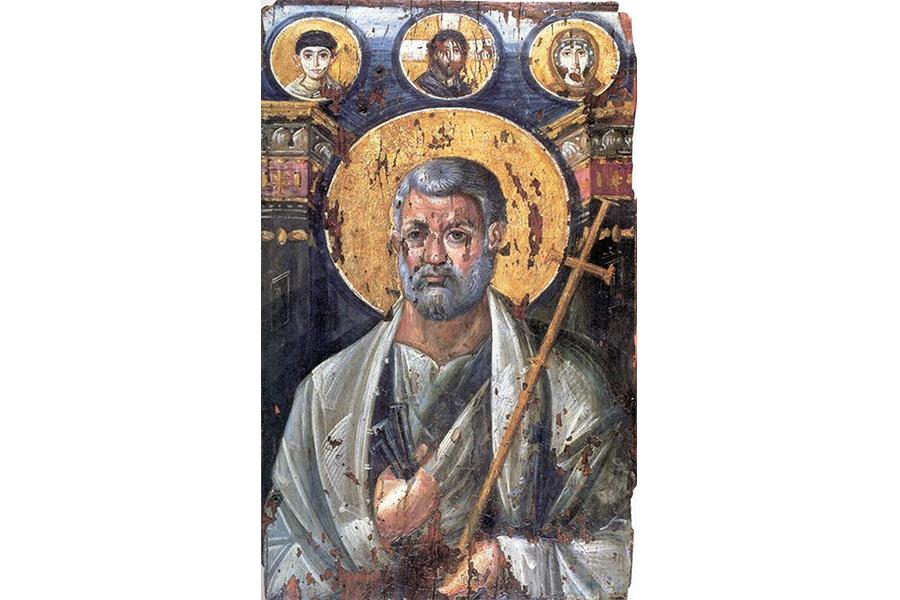 Самая древняя икона апостола Петра. Монастырь великомученицы Екатерины. Синай