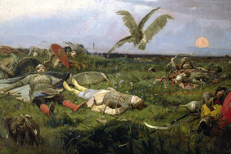 После побоища Игоря Святославича с половцами. Васнецов, 1878.