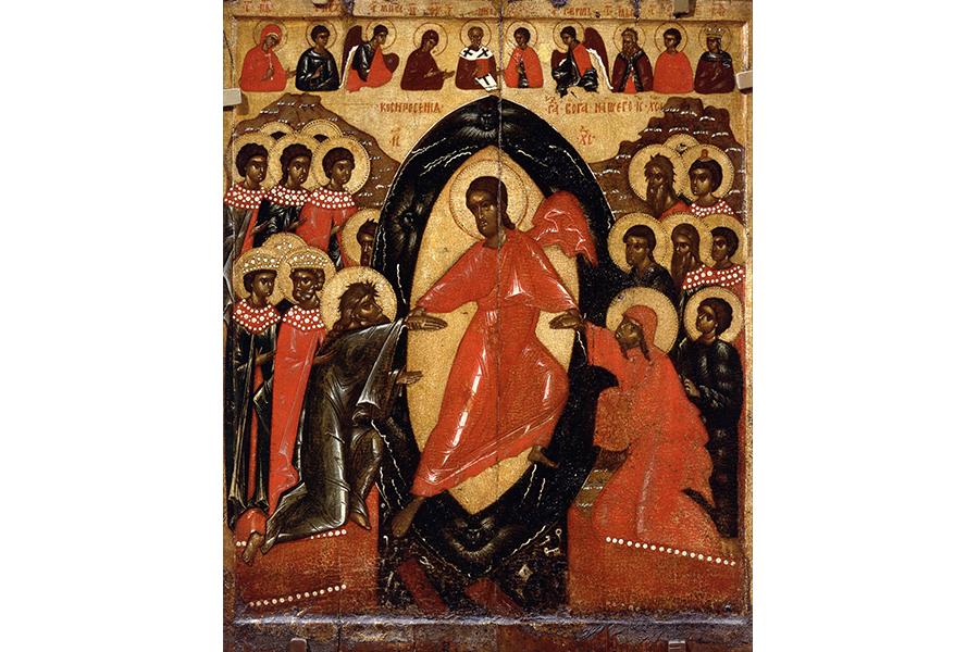 Псковская школа Воскресение Христово