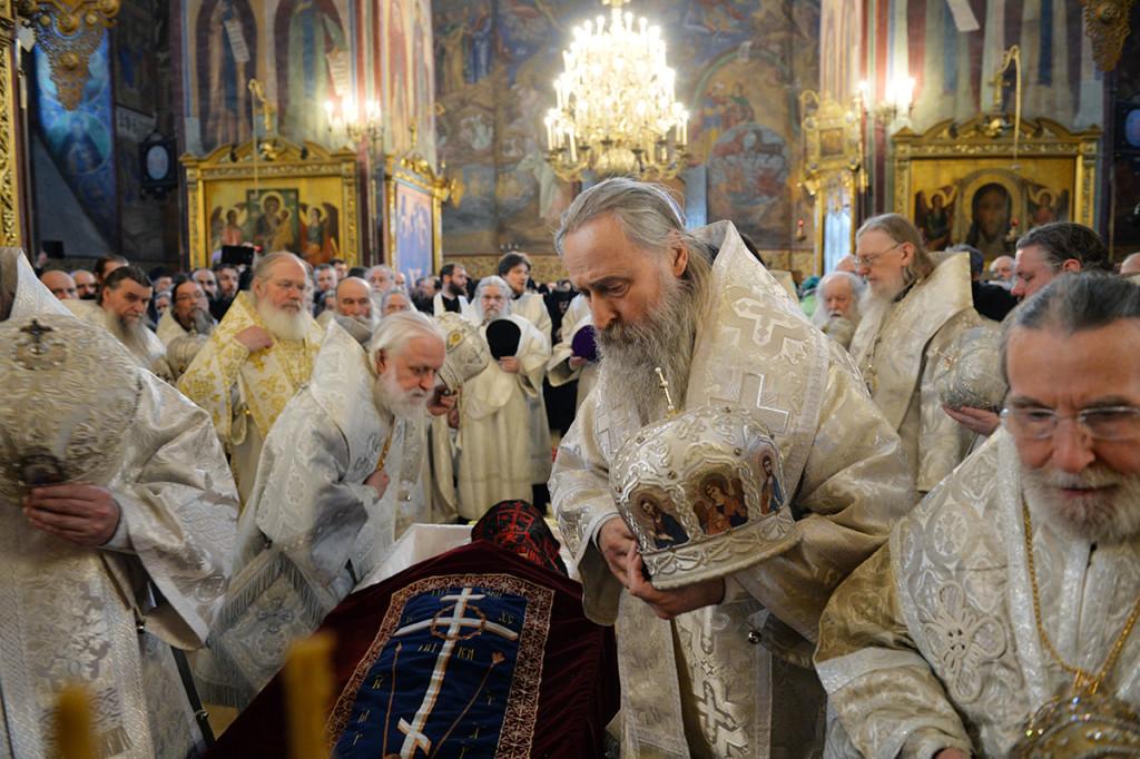 Прощание со старцем Кириллом (Павловым)