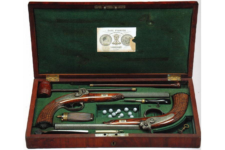 Дуэльные пистолеты, Дрезден, 1930-е годы