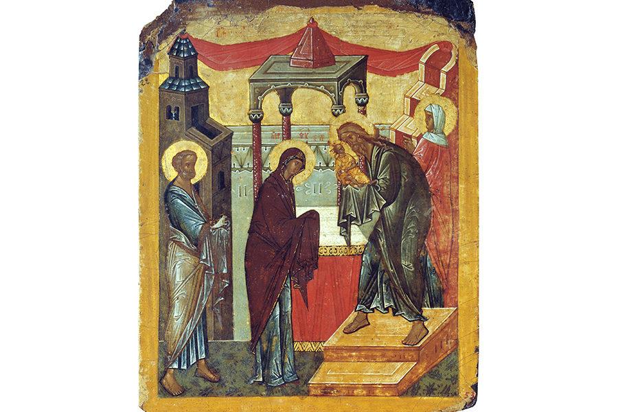 Икона Сретения Господня из Великого Новгорода