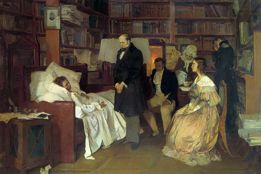 Смерть Пушкина, картина Дмитрия Белюкина