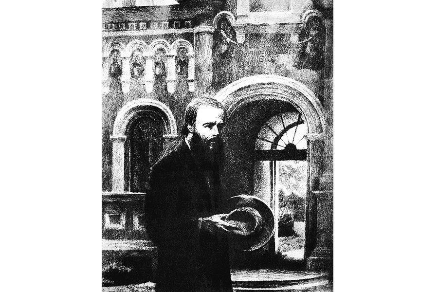 Федор Достоевский в Оптиной пустыне