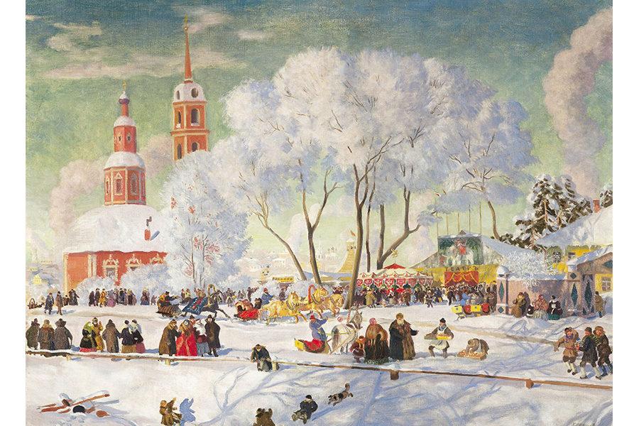 Масленица в творчестве Бориса Кустодиева