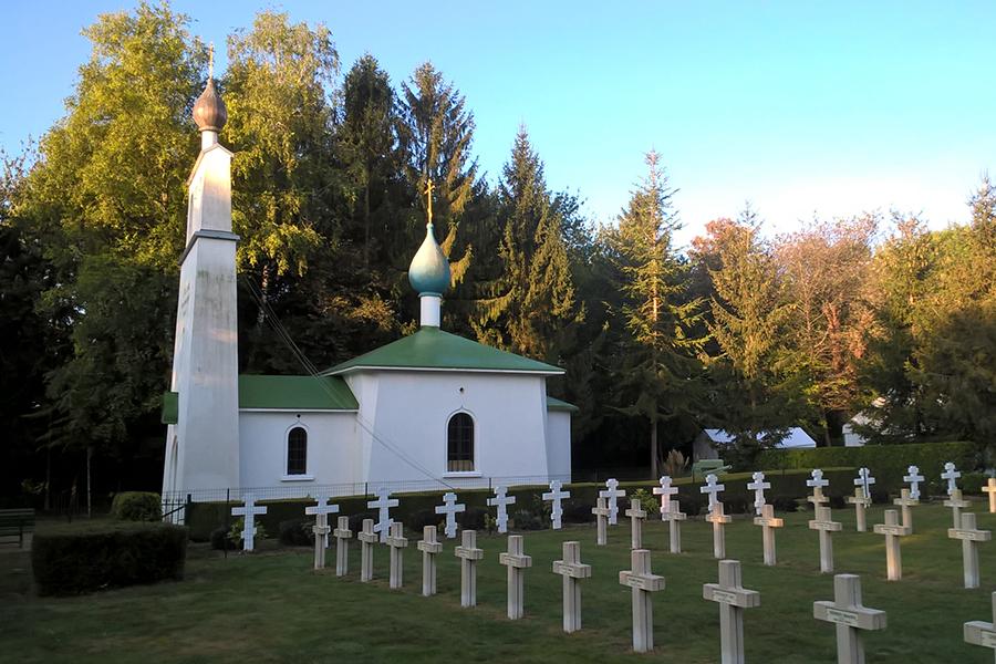 Часовня на русском воинском кладбище Сент-Илер-ле-Гран