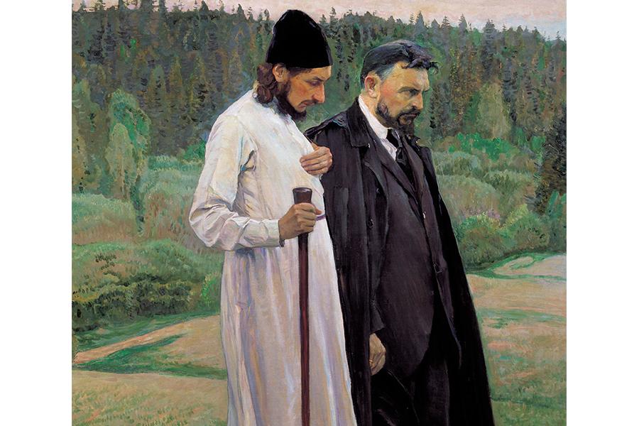 Философы (Флоренский и Булгаков)  Фрагмент картины Нестерова, 1917