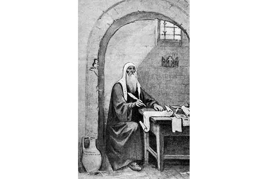 Патриарх Гермоген в Чудовом монастыре
