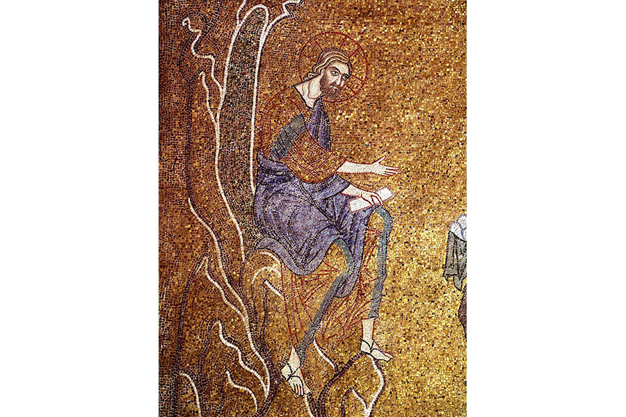 Иисус Христос в пустыне Мозаика