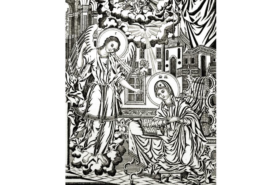 Благовещение Пресвятой Богородицы Святая Гора Афон 1850 г