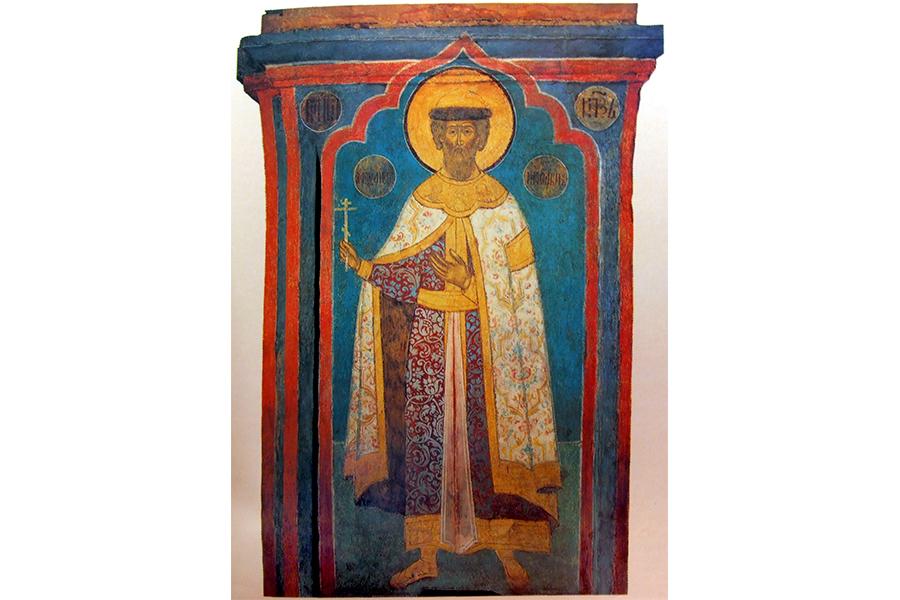 Святой князь Александр Невский, фреска