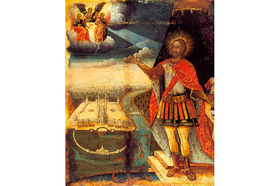 Святой благоверный князь Александр Невский, икона 18 века
