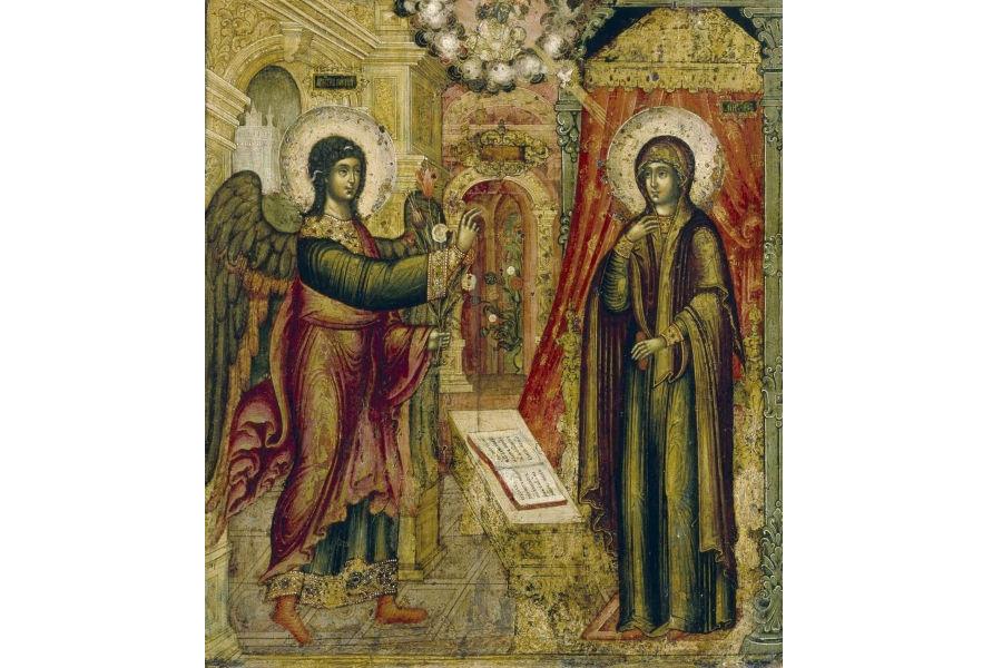 Благовещение, икона Ивана Максимова 1670 год