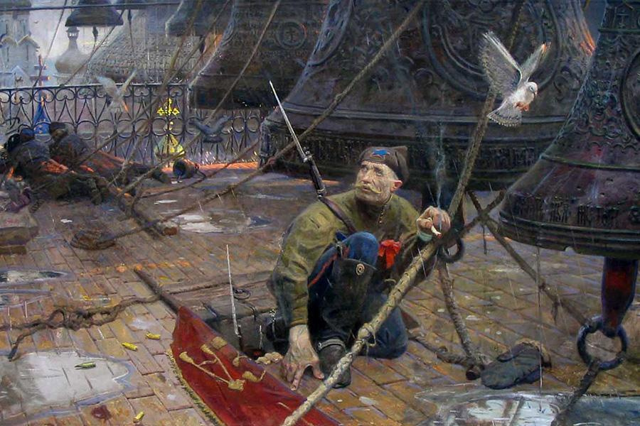 Картина Павла Рыженко Удар колокола