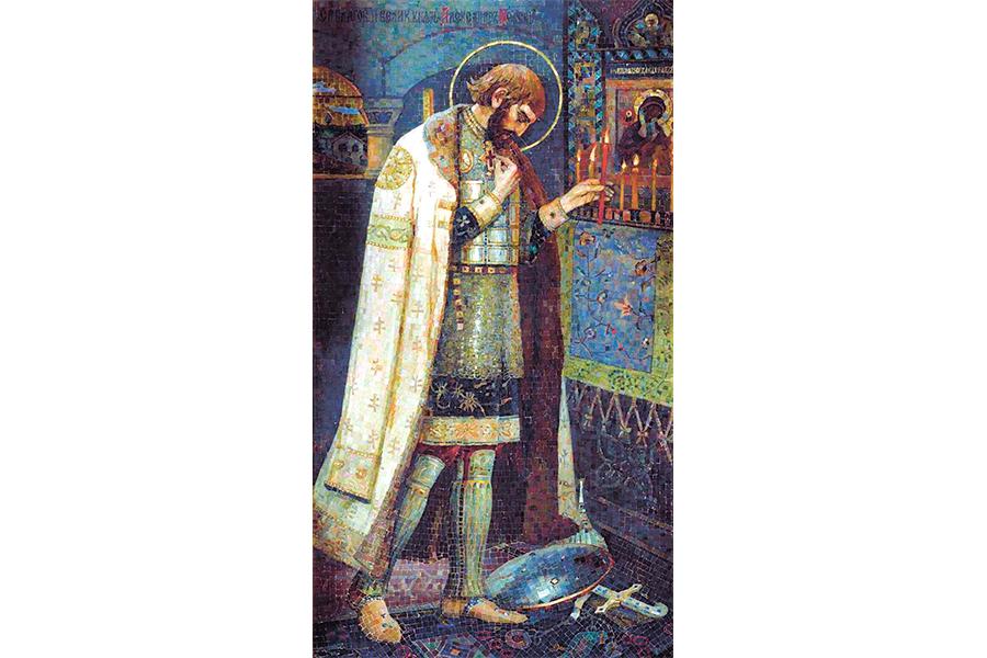 Александр Невский Мозаичная икона Нестерова