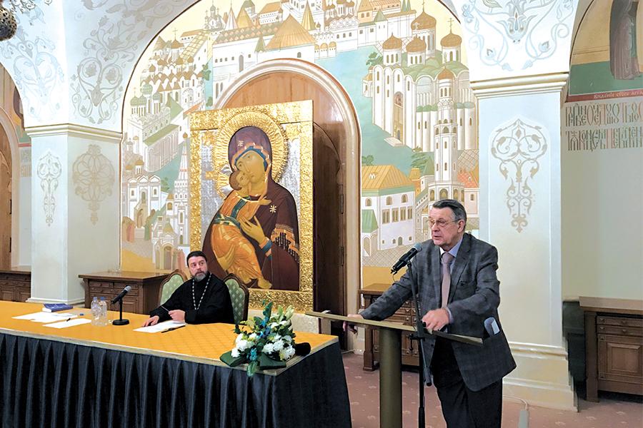 Выступление профессора Антонова на секции Рождественских чтений