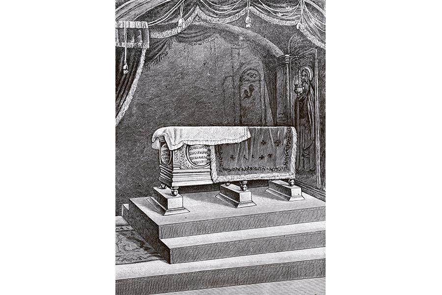 Рака с мощами преподобного Макария гравюра 20 века