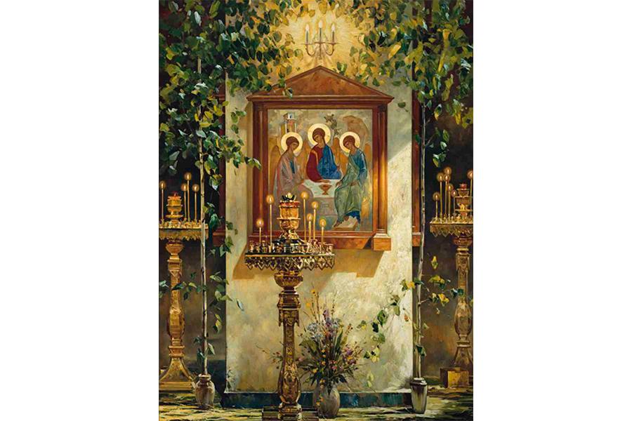 День Святой Троицы Картина Василия Нестеренко