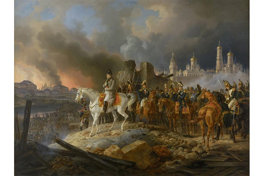 Наполеон покидает Москву