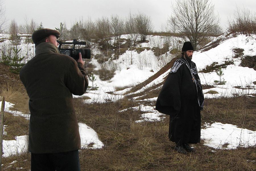 Рабочий момент съемок фильма