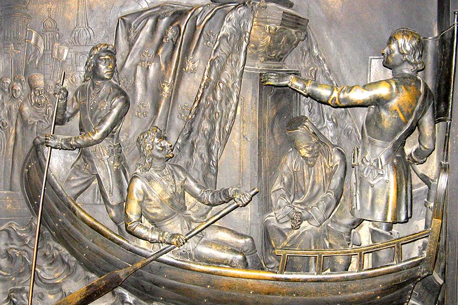 Перенесение мощей Александра Невского, элемент двери Исаакиевского обора