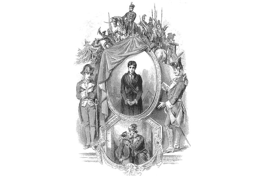 Иллюстрации к повести Пушкина худодника П. Соколова 1891 г.