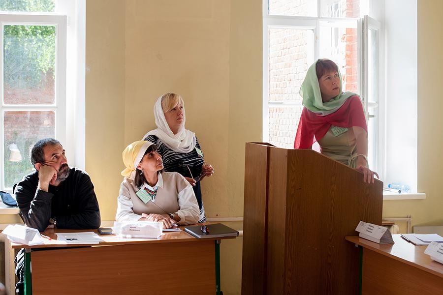 Татьяна Николаевна Позднякова выступила с презентацией о Всероссийской межвузовской олимпиаде