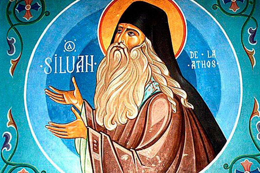 Иконописное изображение преподобного Силуана из Нямецкого монастыря в Румынии